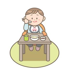 食行動の自立過程 (1~2歳)のイラスト