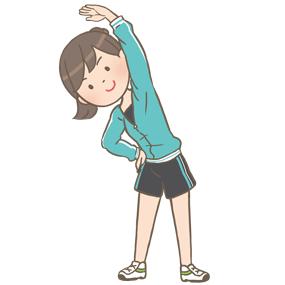 体操をする若い女性のイラスト