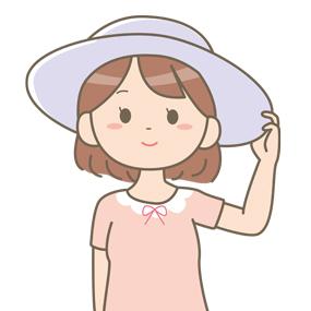 帽子をかぶっている女性のイラスト