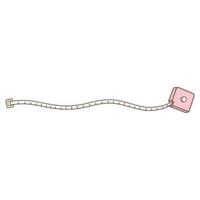メジャー(ピンク)のライン