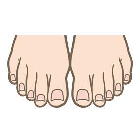 足趾の爪のイラスト