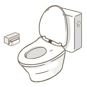 洗浄レバー式のトイレのイラスト