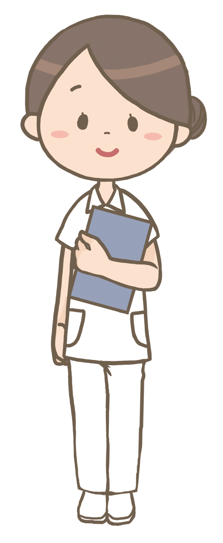 お団子ヘアの看護師のイラストフリー素材看護rooカンゴルー