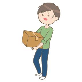 重いものを持つ男性のイラスト🎨【フリー素材】|看護roo![カンゴルー]