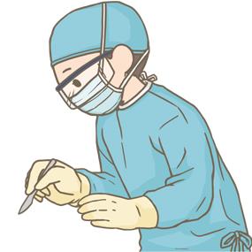 女性医師が手術をしているイラスト