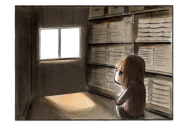 ぼーっと窓の外を眺める