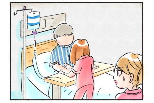 緊迫した空気の現場(病室)