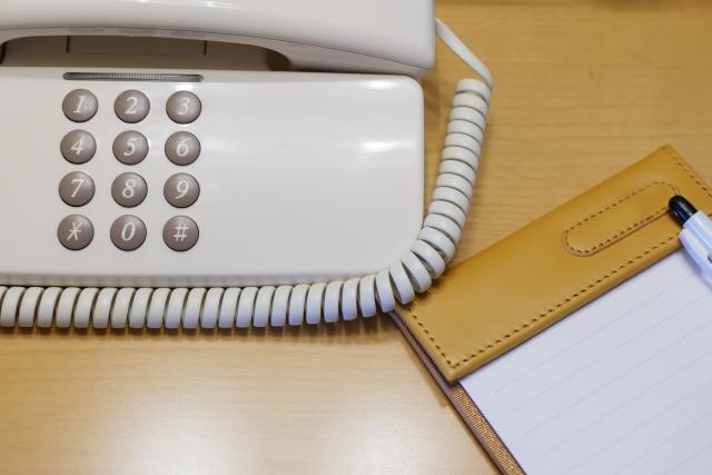 ホテルの部屋の電話