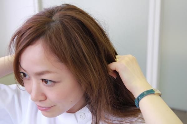 梅雨時のまとまらない髪に。ベタつかないヘアワックスの使い方★美容師直伝   看護師のまとめ髪テク【番外編5】015