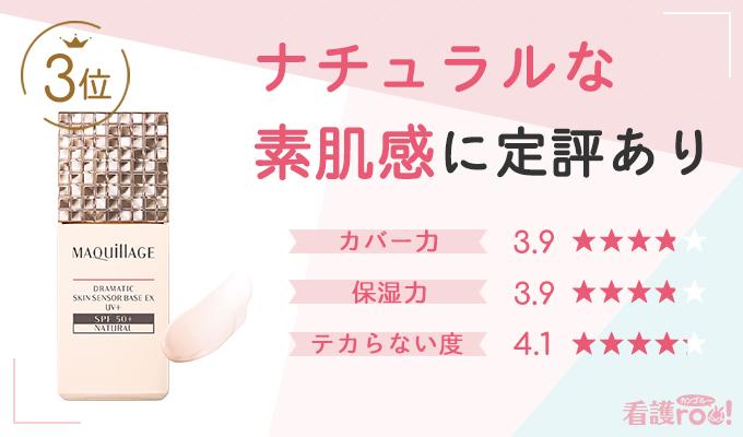 3位:マキアージュ ドラマティックスキンセンサーベースEX UV +(60票)