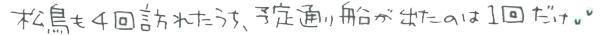 筆者・松鳥も4回訪れたうち、予定通り船が出たのは1回だけ…