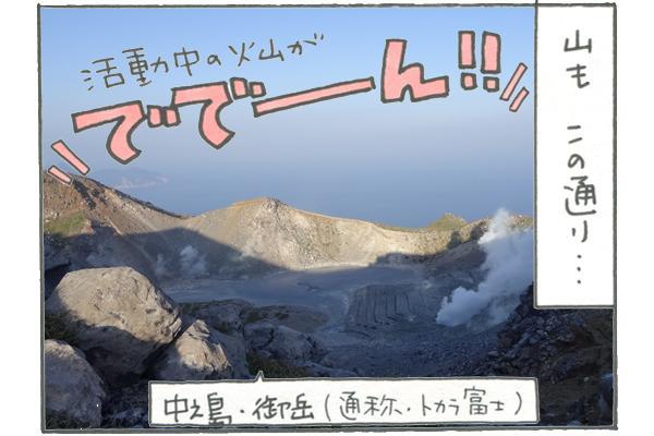 活動中の火山、中野島・御岳(通称・トカラ富士)