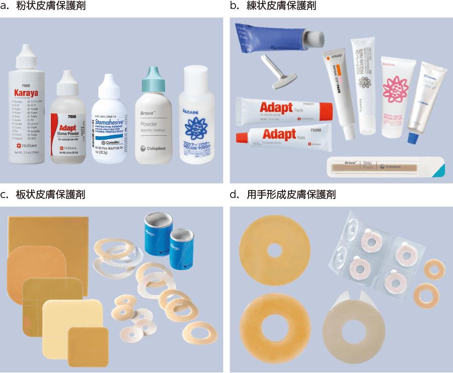 いろいろな皮膚保護剤