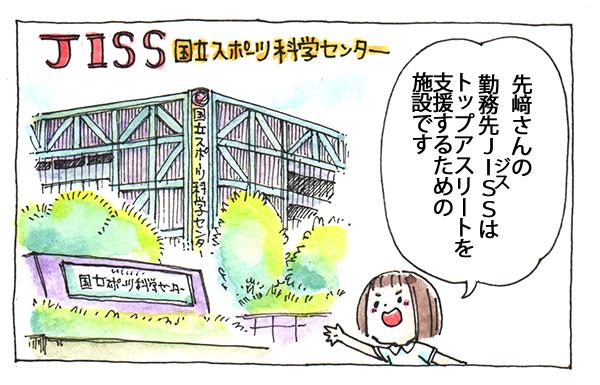 先﨑さんの勤務先JISS(ジス)はトップアスリートを支援するための施設です。