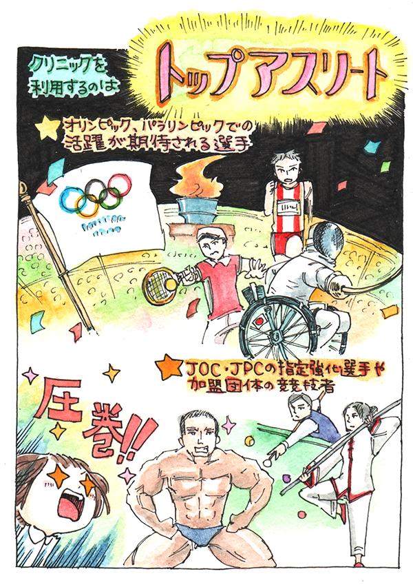 クリニックを利用するのは、オリンピック・パラリンピックでの活躍が期待される選手。