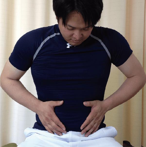 腹部手術後の咳嗽時創部保護