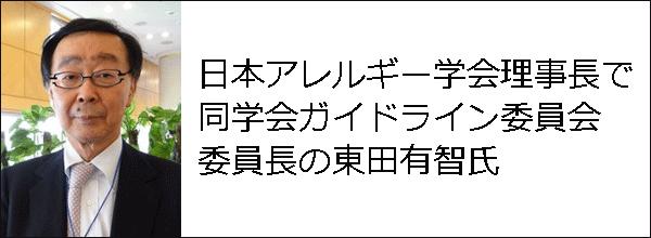 日本アレルギー学会理事長で同学会ガイドライン委員会委員長の東田有智氏の写真