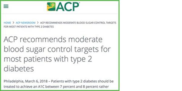 米国内科学会(ACP)が2型糖尿病患者の血糖コントロール目標のガイダンスステートメントを発表。