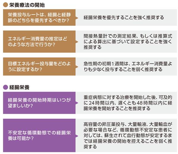 「日本版重症患者の栄養療法ガイドライン」の主な内容