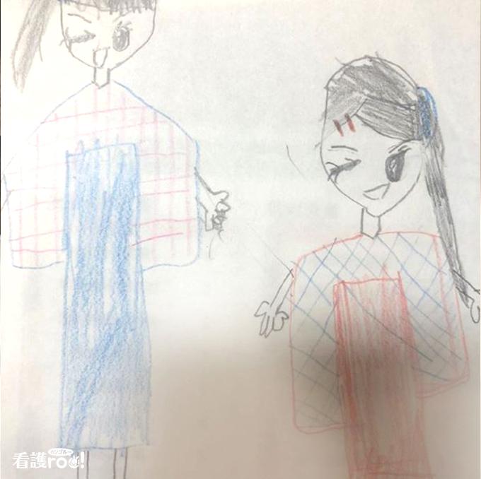 小児科の患者さんがプレゼントしてくれたイラスト