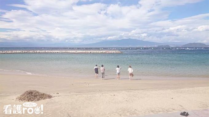 旅行で行った海の風景写真