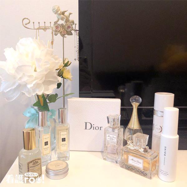 Dior、Jo Malone、SHIROの香水の写真
