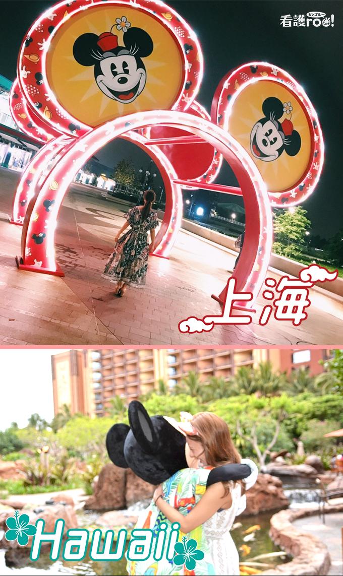 上海・ハワイのディズニーランドの写真
