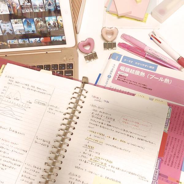 看護師河添紗千子さんの勉強ノートの写真