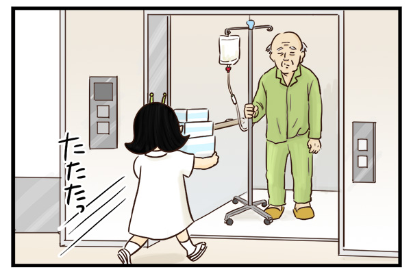 看護師は備品の準備にも大忙し。