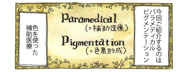 今回ご紹介するのは「パラメディカルピグメンテーション」。色を使った補助医療です。