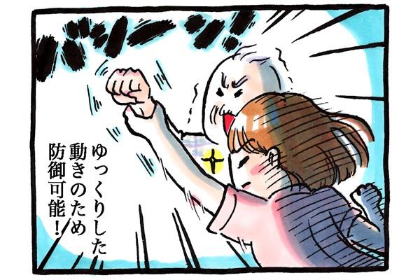 ゆっくりした動きのため防御可能!!