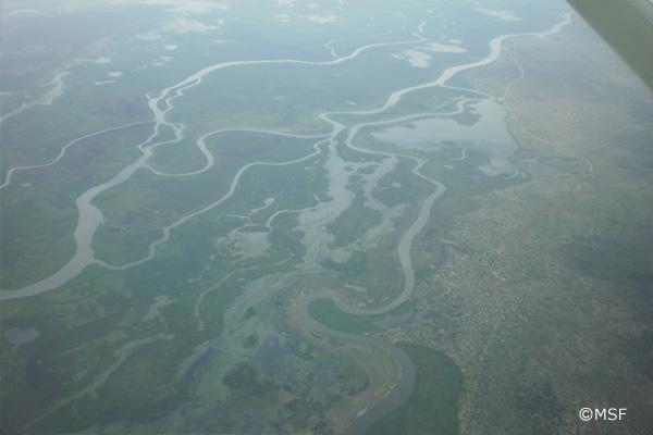 ホワイトナイルとブルーナイルが合流してできたナイル川