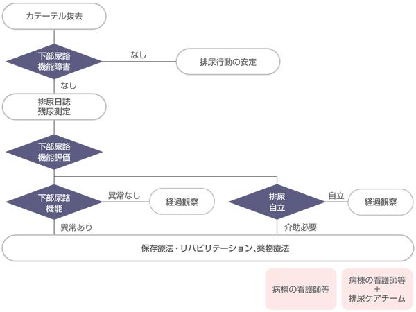 図1 下部尿路機能障害の評価と包括的排尿ケアのアルゴリズム