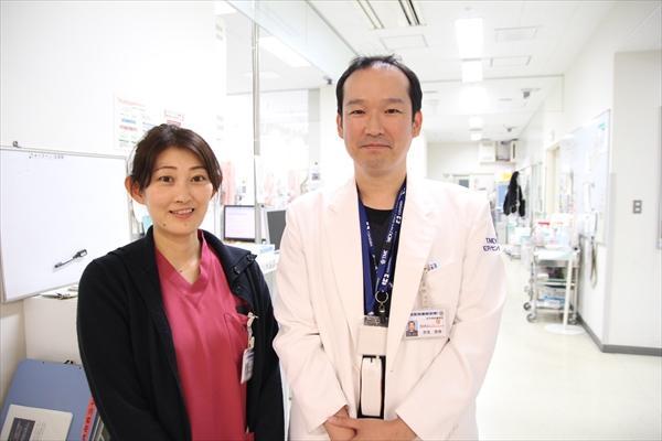 看護師 加藤登紀江さん 医師 世良俊樹さん