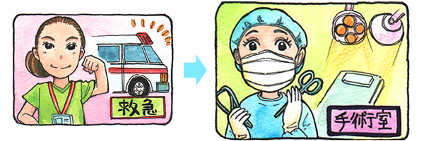 救急看護師のキャリアプラン。救急科から手術室へ