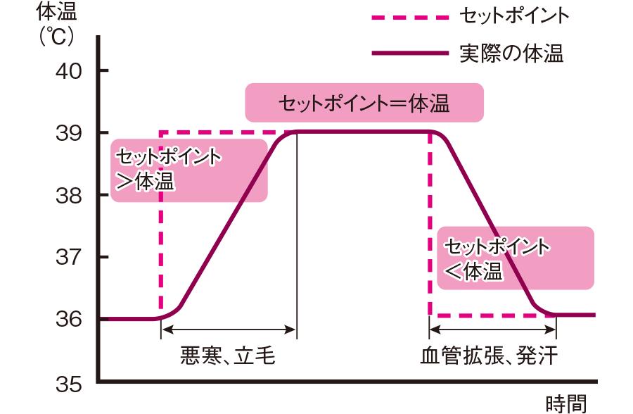 設定温度(セットポイント)と体温の関係
