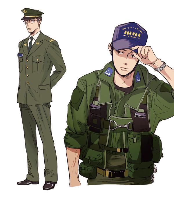 男性自衛官のイラスト