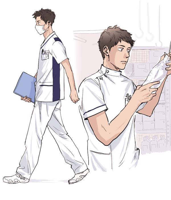 男性看護師のイラスト