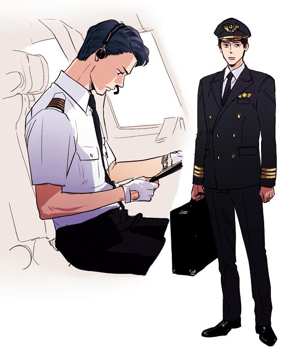 男性パイロットのイラスト