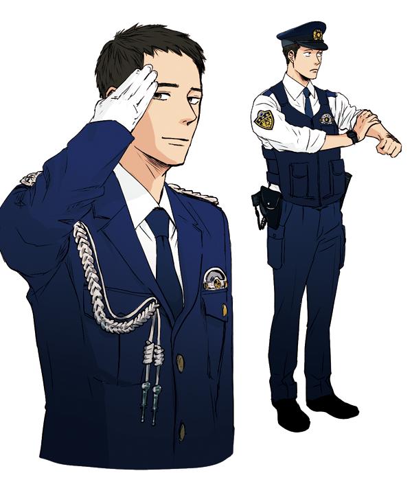 男性警察官のイラスト