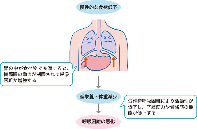 慢性呼吸不全と低栄養