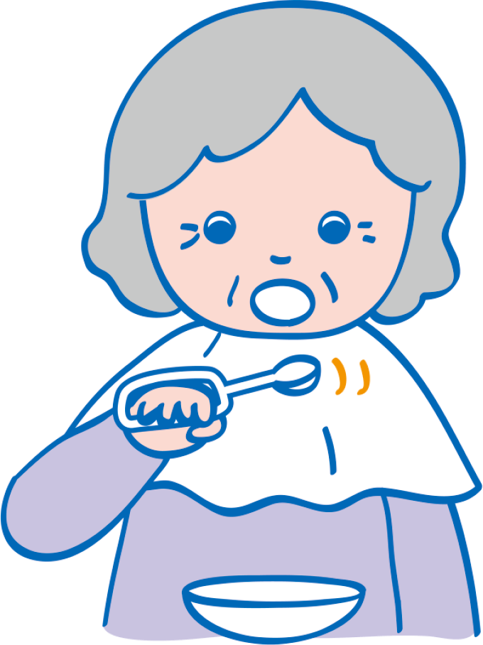 図13麻痺がある患者さんの食事