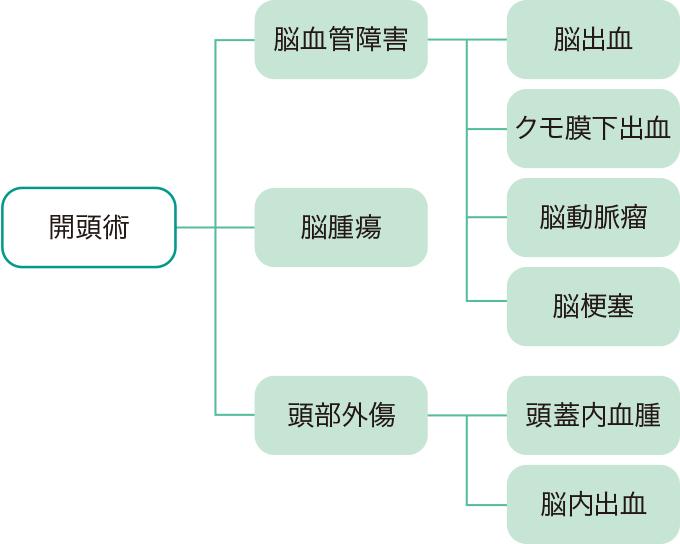 図1開頭術の適応疾患