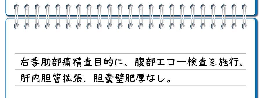 記入例①:胆嚢壁肥厚ない場合