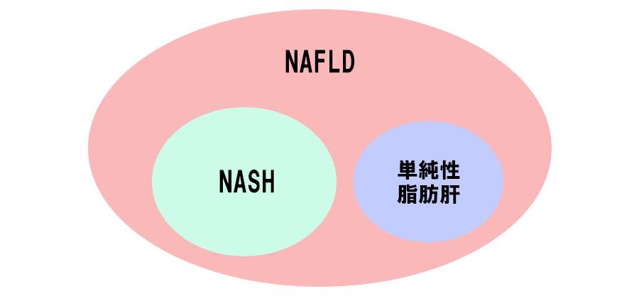 NASHとNAFLDの関係図