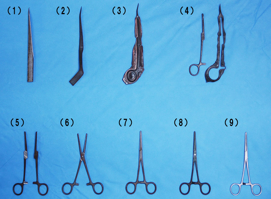 コッヘル鉗子の製造行程