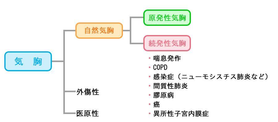 気胸の分類図