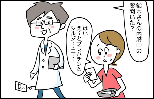 医師から「鈴木さんの内服中の薬聞いた?」と言われ、答えようとしたら困ったことが。「はい、え~とプチバンとシルジ…ニ…」…