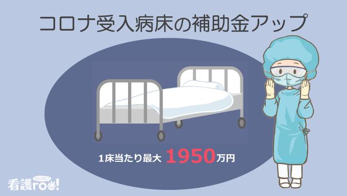 コロナ受入病床の補助金アップ