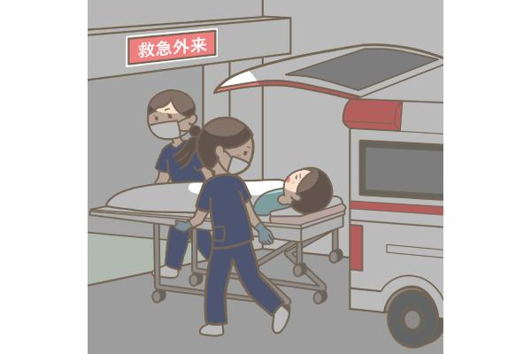 救急搬送場面